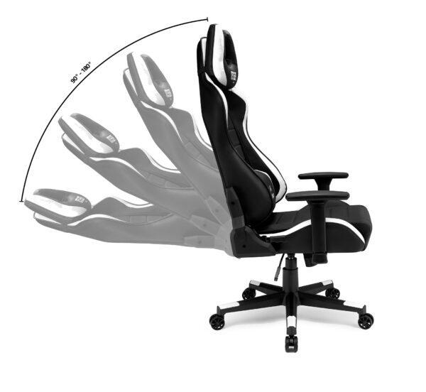 Rozkładanie fotela gamingowego IMBA Warrior White