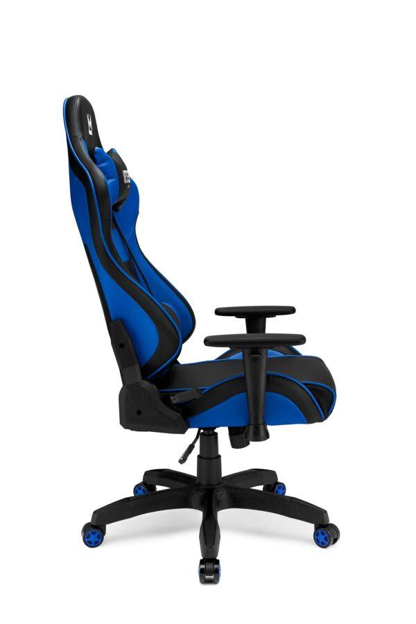 Niebieski fotel gamingowy