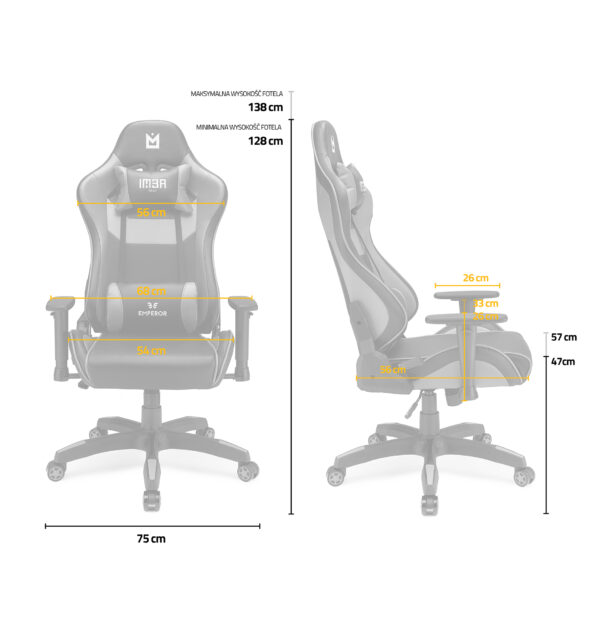 Fotel gamingowy IMBA Emperor Blue