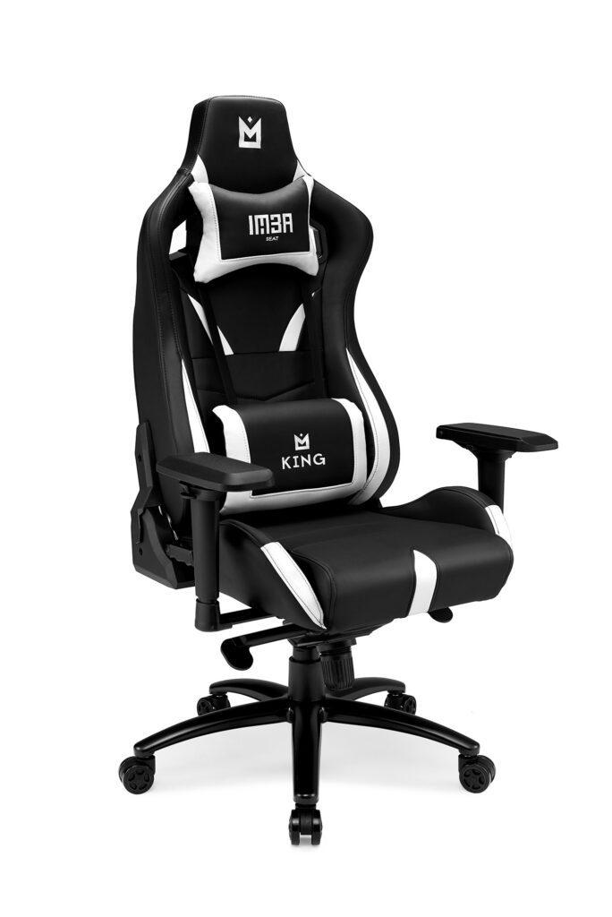 IMBA KING - biały fotel dla graczy
