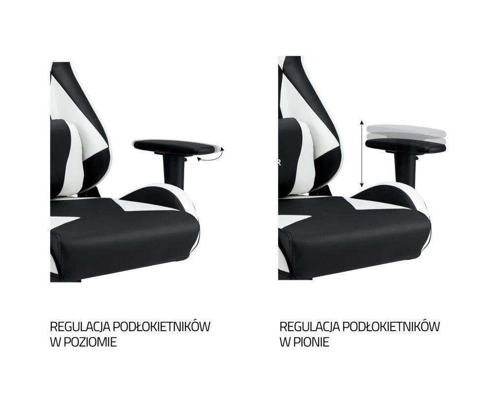 IMBA HUNTER - biały fotel gamingowy.